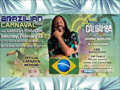 Brazilian Carnaval 2020 with Gabriel o Pensador in Santa Monica